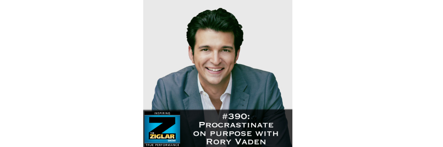 Show #390: Procrastinate on purpose with Rory Vaden